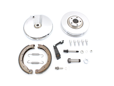 Front Brake Backing Plate Kit Right Side Chrome