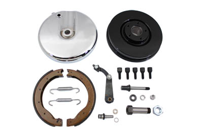 Front Brake Backing Plate Kit Polished